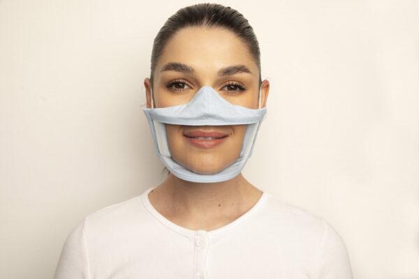 Clear Failte Mask Blue 1 Irish Clear Face Mask Ireland Covid
