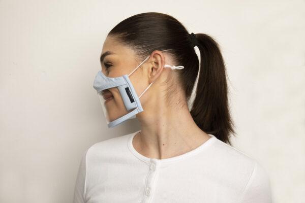Clear Failte Mask Blue 2 Irish Clear Face Mask Ireland Covid
