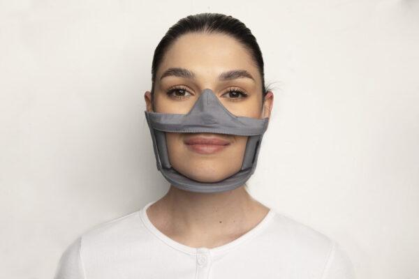 Clear Failte Mask Grey 1 Irish Clear Face Mask Ireland Covid