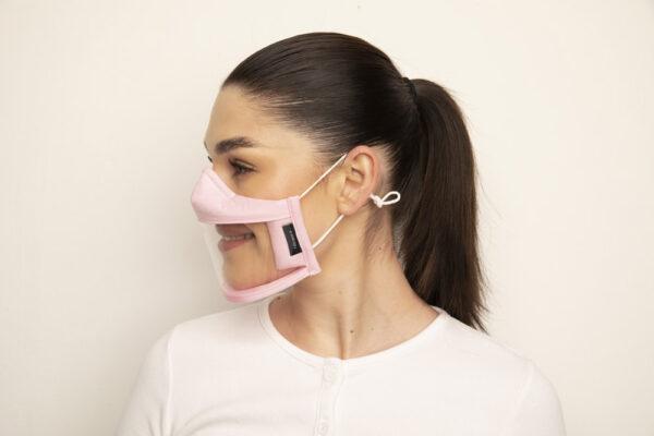 Clear Failte Mask Pink 2 Irish Clear Face Mask Ireland Covid